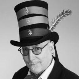 Man posing in a top hat